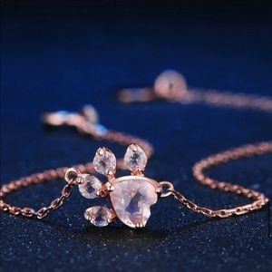 Rose Quartz & Rose Gold Plated Bracelet 10850